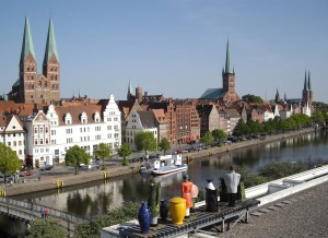 View of Lübeck from above