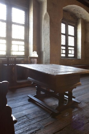 Eisleben, Luther Room with original table in the Luther House