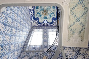 Falkenlust hunting lodge, staircase