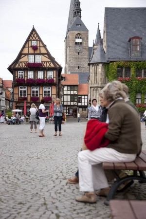 Market square in Quedlinburg