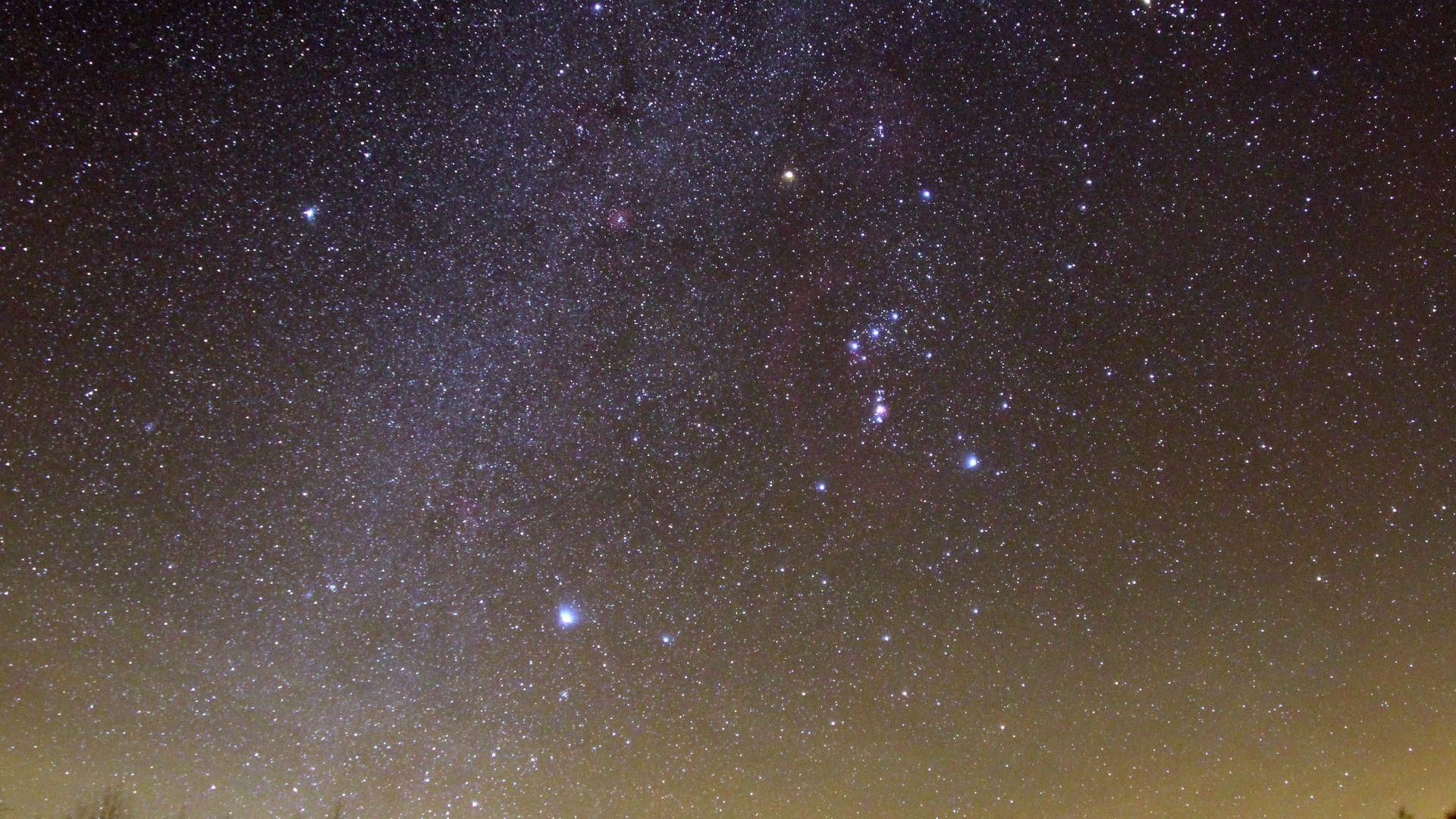 Rhön: Sternenpark, Orion im schwarzen Moor