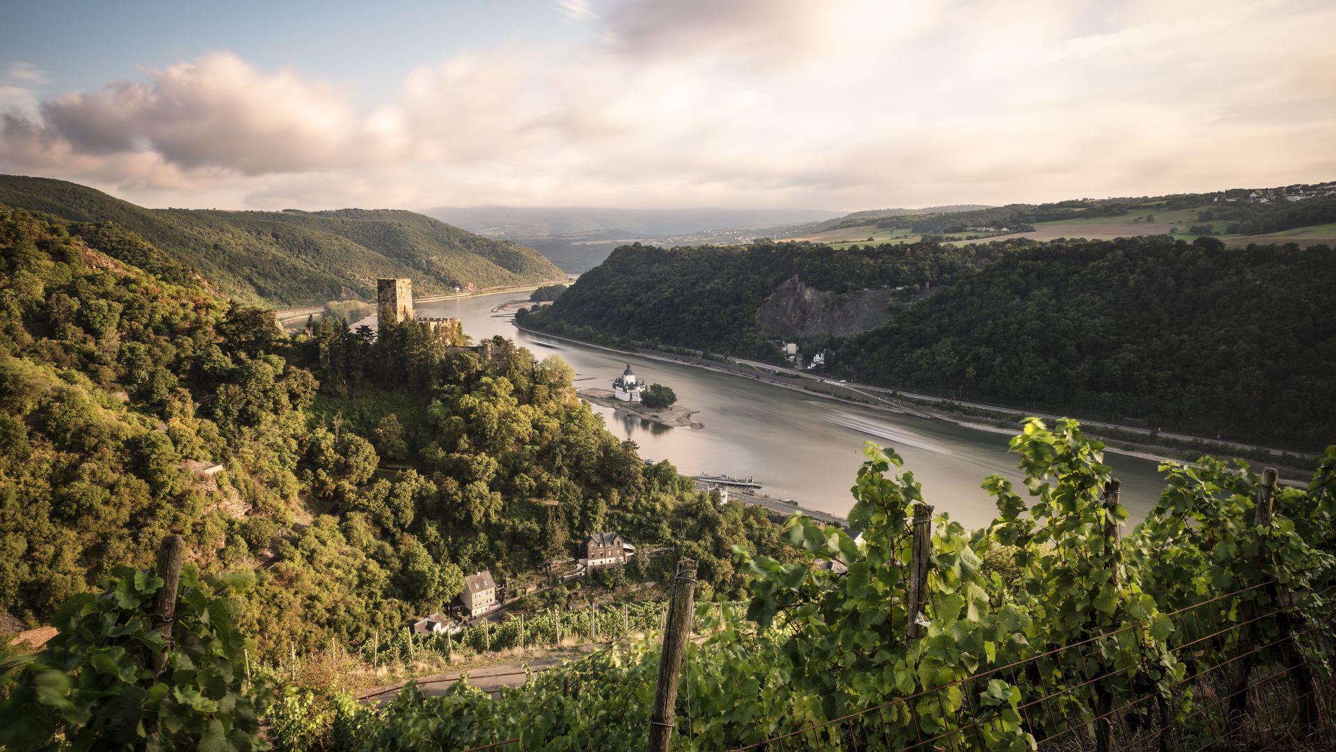 Oberes Mittelrheintal: Burg Gutenfels und Burg Pfalzgrafenstein am Rhein, UNESCO Welterbe