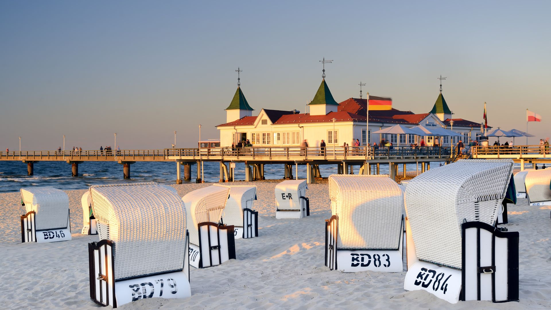 Ahlbeck: pier on the Baltic island of Usedom