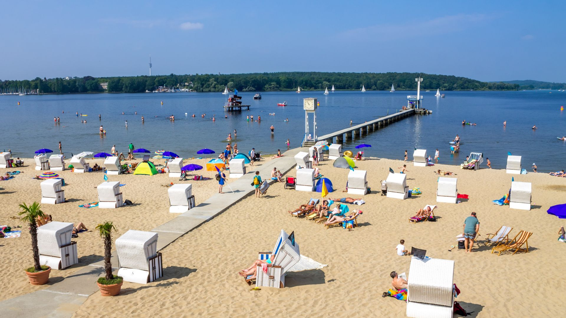 Berlin : Lido sur le Grand Wannsee