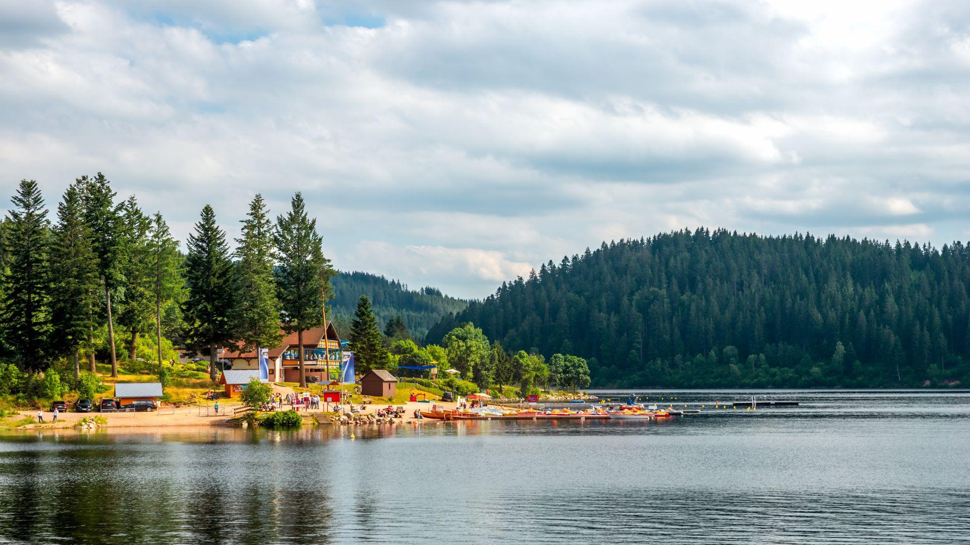 Forêt-Noire : plage de Schluchsee