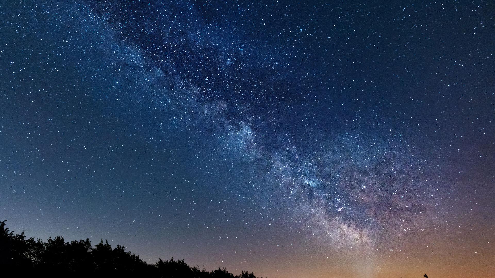 Starry sky over the International Star Park Eifel National Park