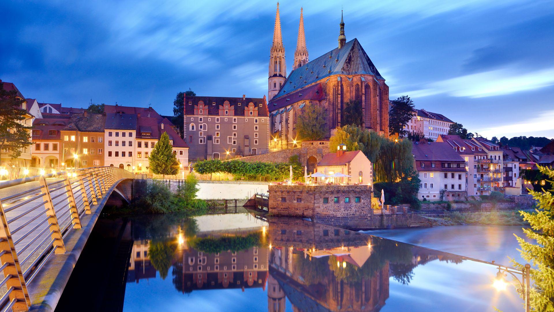 Görlitz: St. Peter und Paul mit Neissebrücke