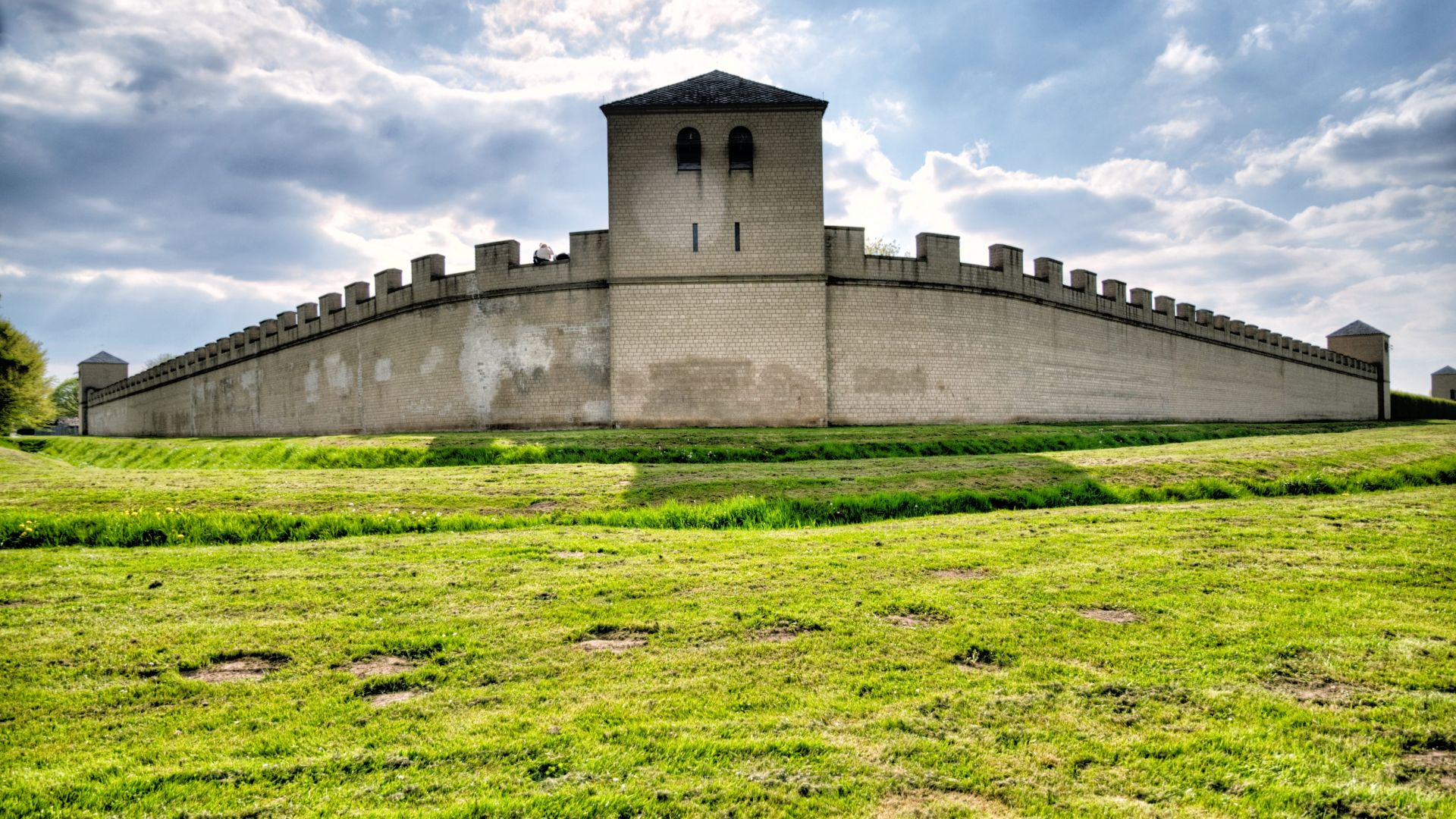 Xanten: Roman Wall in the Archaeological Park in Xanten